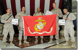 Thank you from Marines in Iraq after receiving care packages