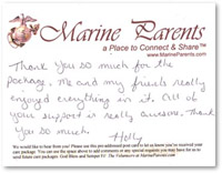 Thank you notes from Marines in Iraq after receiving care packages