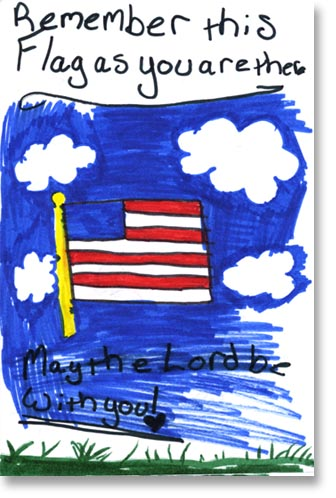 cards from kids to support the troops